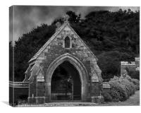 Churchyard At St Michaels Mount, Canvas Print