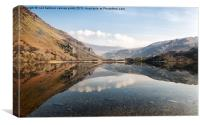 Reflection at Llyn Gwynant, Canvas Print