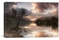 Sunrise over Llyn Padarn, Canvas Print