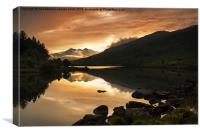 Sunset at Llynnau Mymbyr, Canvas Print