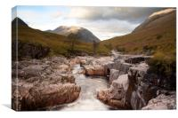 River Etive , Canvas Print