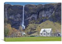 I want to live here, Canvas Print