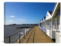 Southwold Pier and Beach Huts, Canvas Print