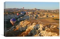 Ballooning Over Goreme Valley, Canvas Print