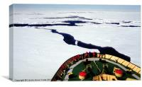 Ice Breaking in the Ross Sea, Canvas Print