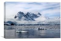 Glaciers in Cierva Cove Antarctica, Canvas Print
