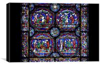 Stained Glass in Canterbury Cathedral, Canvas Print