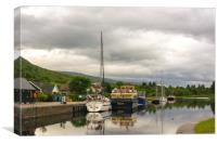 Caledonian Canal near Fort William, Canvas Print
