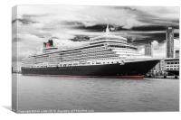Queen Elizabeth in Liverpool, Canvas Print