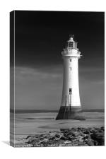 """ High and Dry"" , Perch rock Lighthouse, Canvas Print"