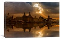 Liverpool morning, Canvas Print