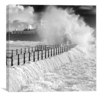 The `Rock` in the storm, Canvas Print
