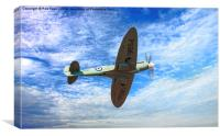 The Last Spitfire, Canvas Print