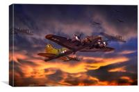 Sally B. B17 Flying Fortress, Canvas Print