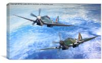 The last 2 spitfires , Canvas Print