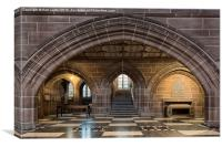 Lady Chapel, Liverpool Anglican Cathedral, Canvas Print