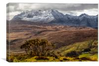 The House, the Glen and the Mountain, Canvas Print