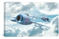 """MIG 17s """" On your Tail"""" , Canvas Print"""