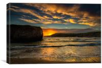 Anglesey sunset at Cable bay, Canvas Print
