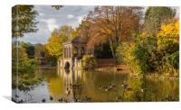 Autumn at the boathouse, Canvas Print