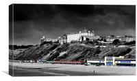Bournemouth Beach and the West Cliff, Canvas Print