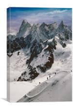 Chamonix Mont Blanc Massif France, Canvas Print