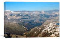 French Alps from Courchevel La Tania 3 Valleys, Canvas Print