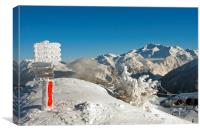 Courchevel La Tania 3 Valleys French Alps France, Canvas Print