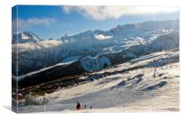 Courchevel 1850 3 Valleys ski area French Alps Fra, Canvas Print