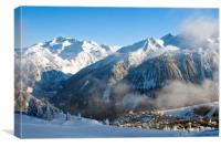 Courchevel 1850 3 Valleys ski area French Alps, Canvas Print