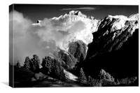 Courchevel 1850 3 Valleys Mont Blanc Alps France, Canvas Print