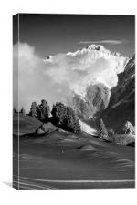 Courchevel 1850 Mont Blanc French Alps France, Canvas Print
