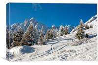 Courchevel 1850 3 Valleys French Alps France, Canvas Print
