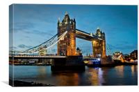 Tower Bridge River Thames London England, Canvas Print