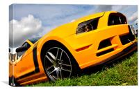 Ford Mustang Sports Motor Car, Canvas Print