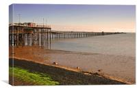 Southend on Sea Pier and Beach Essex, Canvas Print