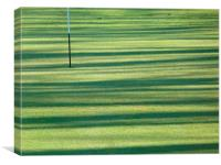 Onto the green, Canvas Print