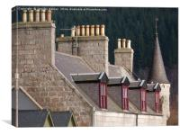 Ballater rooftops, Canvas Print