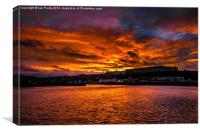 Sunset over Whitby, Canvas Print