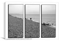 A day at the beach triptych, Canvas Print
