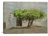 Little White Church, Canvas Print