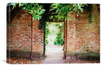 A gate at Lady Dixon Park in Belfast., Canvas Print