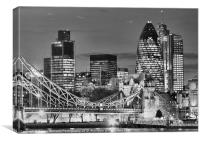 The City Of London BW, Canvas Print
