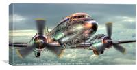 The Douglas C47 Dakota, Canvas Print