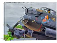 Lancaster - Just Jane, Canvas Print