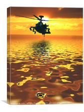 Apache AH-1  Attack Helicopter, Canvas Print