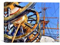The Helm HMS Warrior, Canvas Print