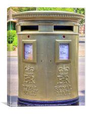 Gold Postbox, Canvas Print