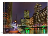 Canary Wharf - London - 3, Canvas Print
