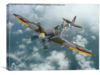 Spitfire In The Clouds 1, Canvas Print